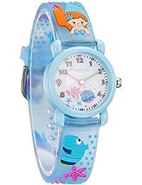 [チックタック] TICKTOCK キッズ腕時計 クオーツ アナログ表示 子供 ガールズ ウォッチ子供の日 入学 通学 入園 通園 新学期 誕生日 お祝い プレゼント (ブルー) [並行輸入品]