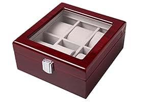 【ノーブランド品】 腕時計ケース 6本収納 コレクションボックス