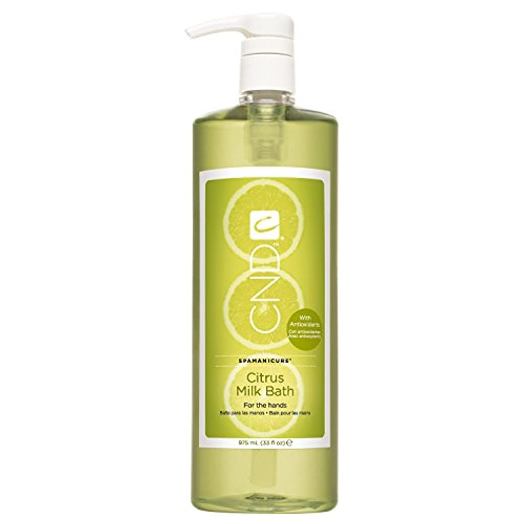 溶岩実験をする二層CND SpaManicure - Citrus Milk Bath - 33oz