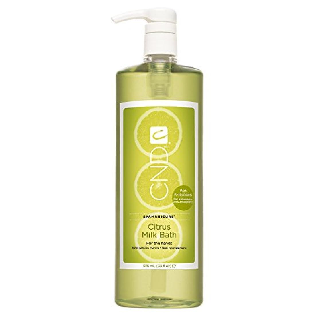 イブニング手ファイルCND SpaManicure - Citrus Milk Bath - 33oz
