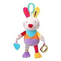 RaiFu ベビーカー おもちゃ おでかけおもちゃ  ベビー おもちゃ  ベビーカー 掛け ぬいぐるみ 動物 おもちゃ 赤ちゃん おもちゃ 幼児 おしゃぶり ドール ブリンゲドス 誕生日 ギフト 20-28 センチメートルクラシックウサギ人形のペンダント