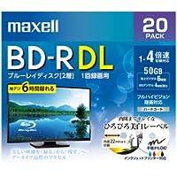 マクセル 4倍速対応BD-R DL 20枚パック 50GB ホワイトプリンタブル BRV50WPE.20S