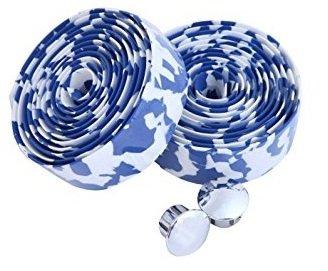 EVA ロード用 バーテープ クッション製に優れたEVA製バーテープ ロード ピスト ドロップハンドルバーテープ 全12色 (青・白)