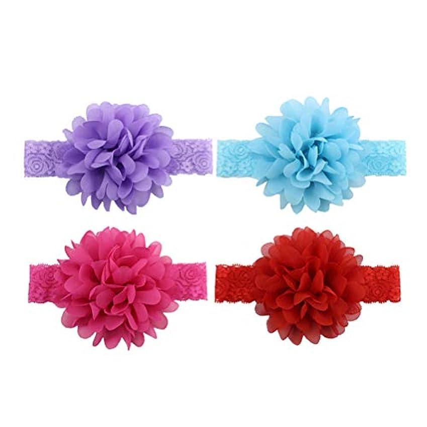 バンク責任者マイルストーンToyvian 女の赤ちゃんのヘッドバンドスウィートレースの花の装飾ヘアバンド(アソートカラー)