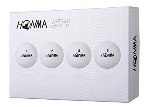 本間ゴルフ ゴルフボール New D1  BT-1801 ホワイト
