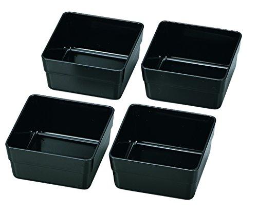 日本製 HAKOYA たつみや 15.0重箱用仕切り小鉢4個セット 黒 56010...