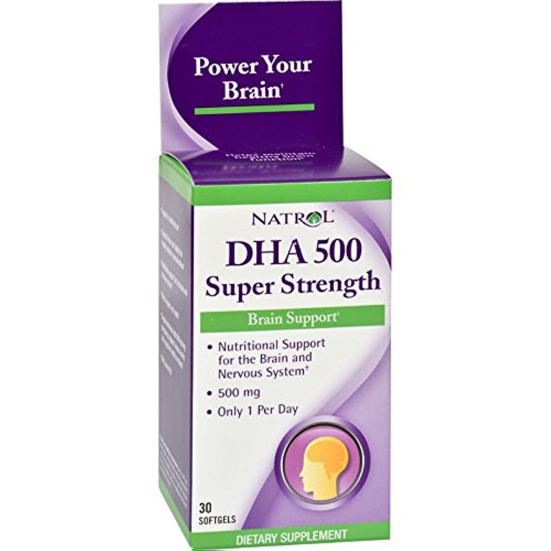 解明する黒くするブート[海外直送品] Natrol DHA500 スーパーストレングス 30粒