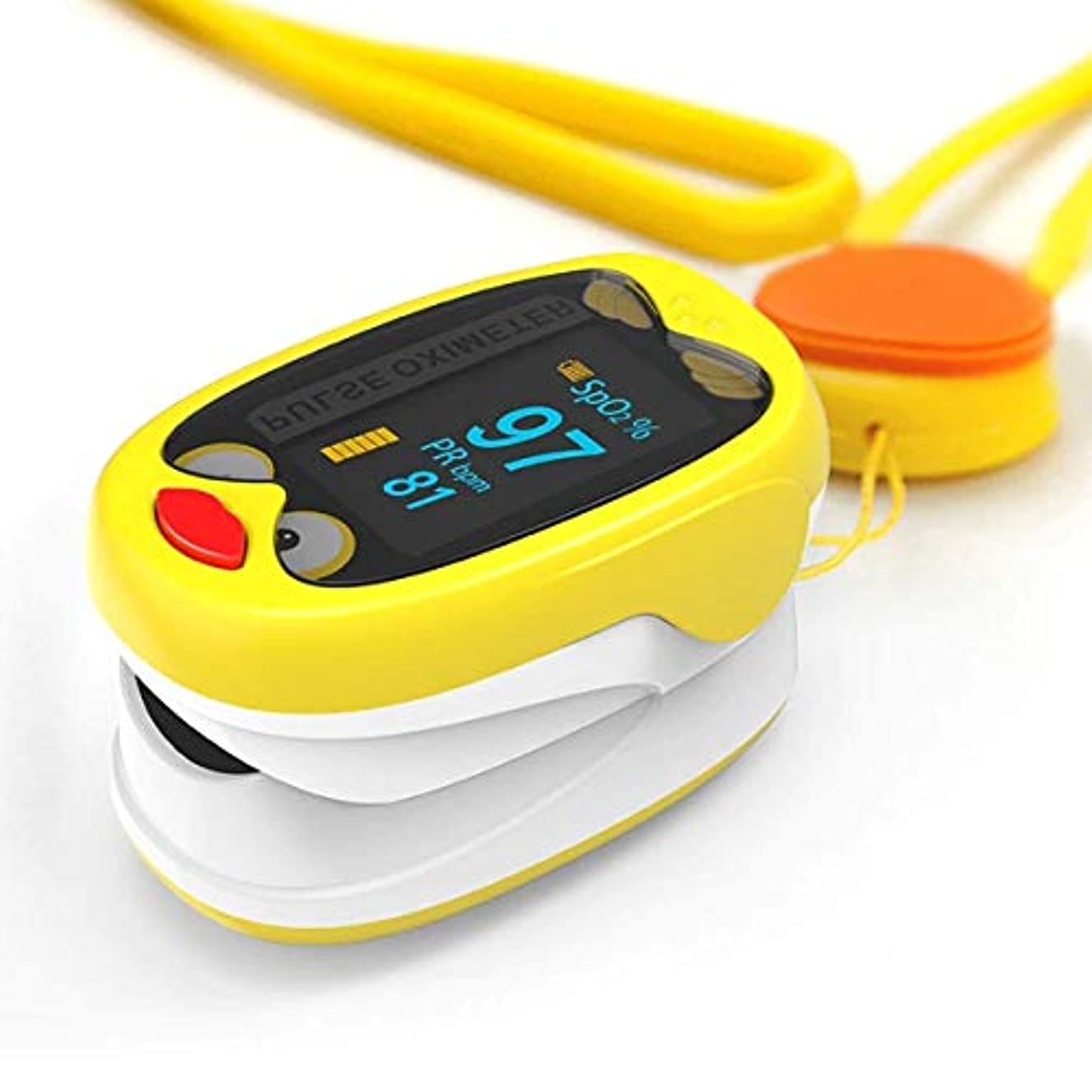 戦う取り付け経由で子供および子供のための血SpO2指の酸化濃度計の酸素含有量を測定する脈拍の酸化濃度計のデジタル回転OLEDスクリーン
