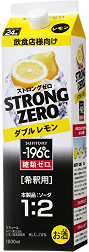 サントリー -196ストロングゼロコンクダブルレモン1.8L