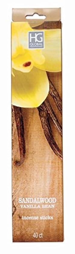 露脅迫花瓶Hosley 's Highly FragrancedサンダルウッドバニラIncense Sticks 240パック、Infused with Essential Oils。理想的なギフト、ウェディング、イベント、アロマセラピー...