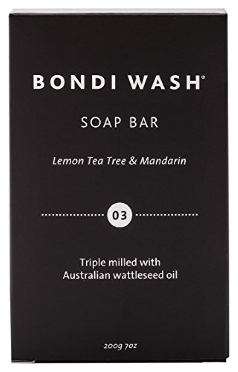 ハングはげ弱めるBONDI WASH ソープバー(固形石鹸) レモンティーツリー&マンダリン 200g