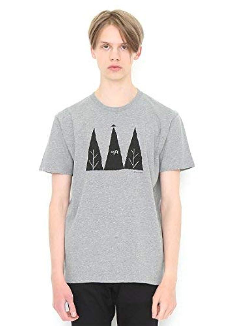 建物天気泥沼(グラニフ) graniph ベーシックTシャツ/ゴーイングトゥースペース (ヘザーグレー)