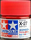 タミヤカラー アクリルミニ X-27 クリヤーレッド 光沢