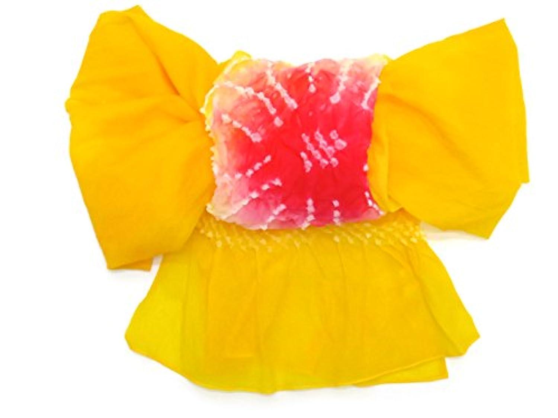 兵児帯 こども 絞り 女の子 男の子 浴衣 帯 へこ帯 三尺帯 3m 選べる色(青 赤 黄色 ピンク) KHK001
