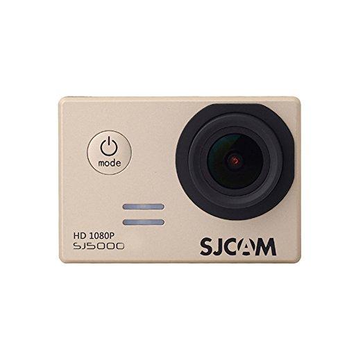 SJ5000 SJCAM正規品 HD 1080P 水中撮影可能 防水スポーツカメラ アクションカメラ DV 多機能防水 ビデオカメラ 日本語にも対応 防水ケース付き ドライブ 車載レコーダー バイクや自転車 カートや車に取り付け可能 ゴールド