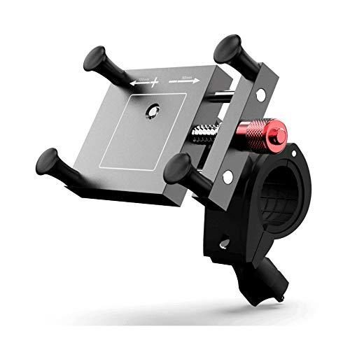 (最新版)自転車ホルダー 自転車用スマホホルダー アルミ合金 振れ止め 脱落防止 オートバイ バイク スマートフォン GPSナビ 携帯 固定用 360度回転 脱着簡単 強力な保護 (ブラック)12ヶ月安心保証