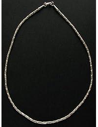 [クロマニヨン] カレン 族 シルバー 魚文様 ビーズ シンプル ネックレス 46cm