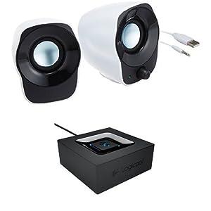 【ロジクール ステレオスピーカー&Bluetoothレシーバーセット】スピーカーZ120BW + ミュージックレシーバー BB200