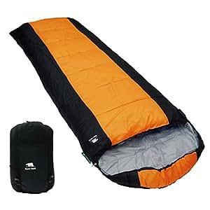 寝袋 シュラフ 封筒型 ファスナーガード付 【購入特典付】 (オレンジ)