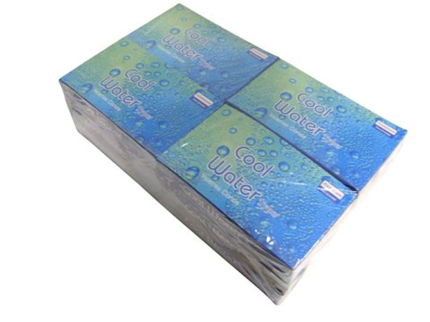不安定な利益不倫DARSHAN(ダルシャン) クールウォーター香 コーンタイプ COOL WATER CORN 12箱セット