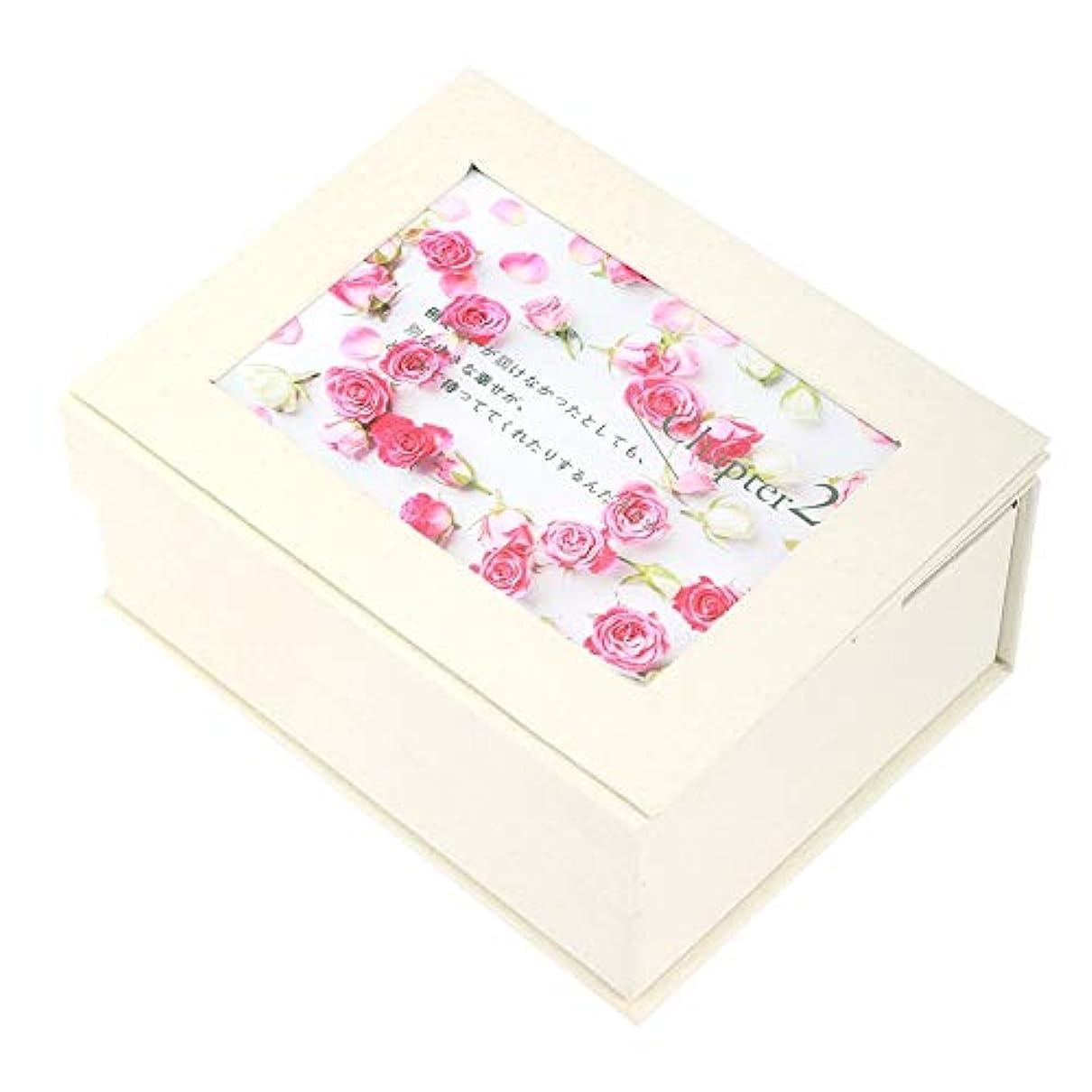 乳白色調停者ユニークな石鹸の花のギフト用の箱、石鹸の花のギフト用の箱の女の子のお母さんの誕生日のクリスマスの結婚式のギフトの写真フレームが付いている花の石鹸(#1)