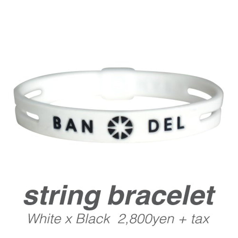 トムオードリース自転車マイナー[バンデル?BANDEL]ストリングブレスレット?string bracelet(WhitexBlack?ホワイト×ブラック)Lサイズ(19.0cm)