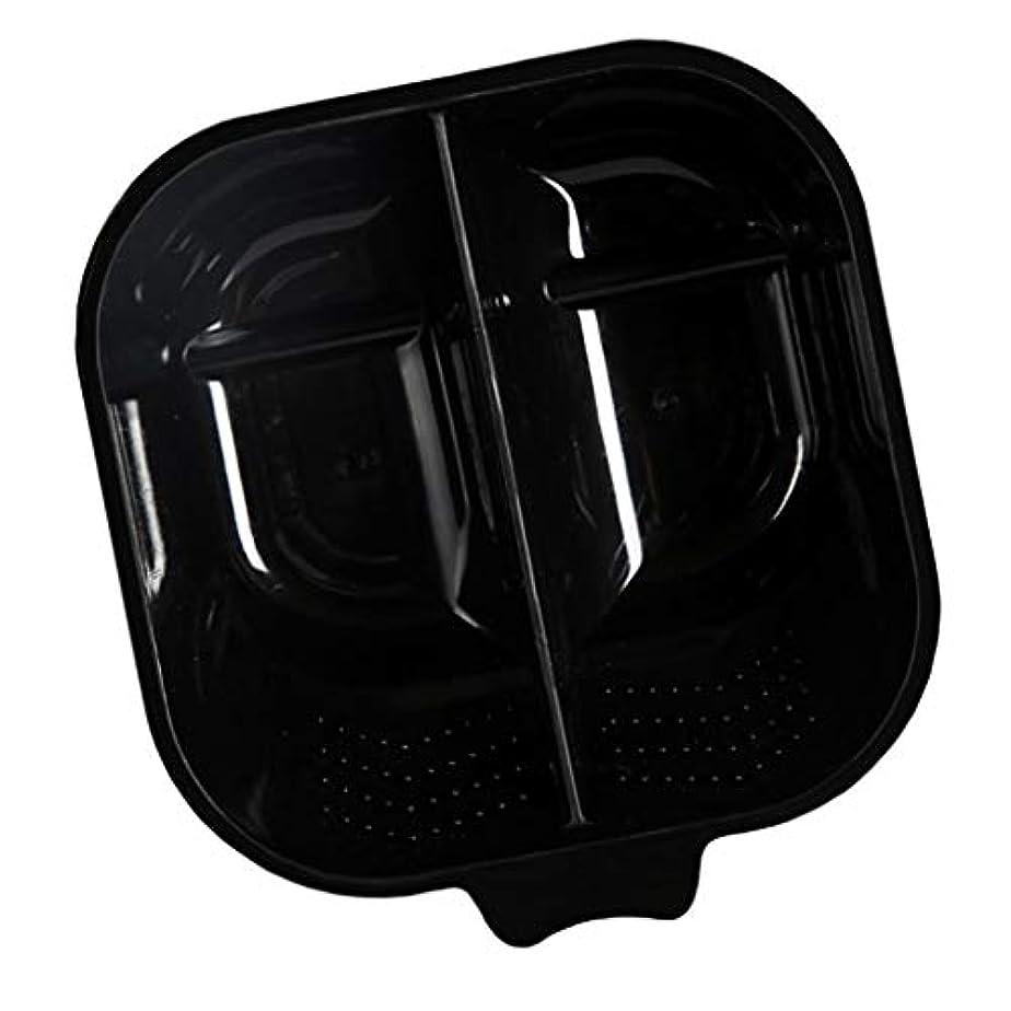 注文固める慣性ヘアダイカップ ヘアカラーボウル プレート プロ サロン 美容院 髪染め ヘアカラー 混合ボウル - ブラック