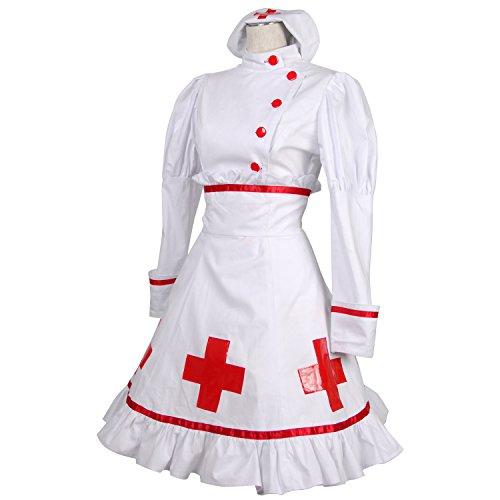 クロスマーク レトロ ナース服 衣装 コスチューム レディースサイズ ゾンビ ハロウィン Lサイズ