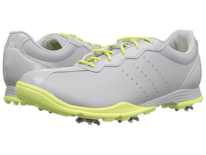 (アディダス) adidas レディースゴルフシューズ?靴 Adipure DC Grey One/Silver Metallic/Semi Frozen Yellow 7.5 (24.5cm) M