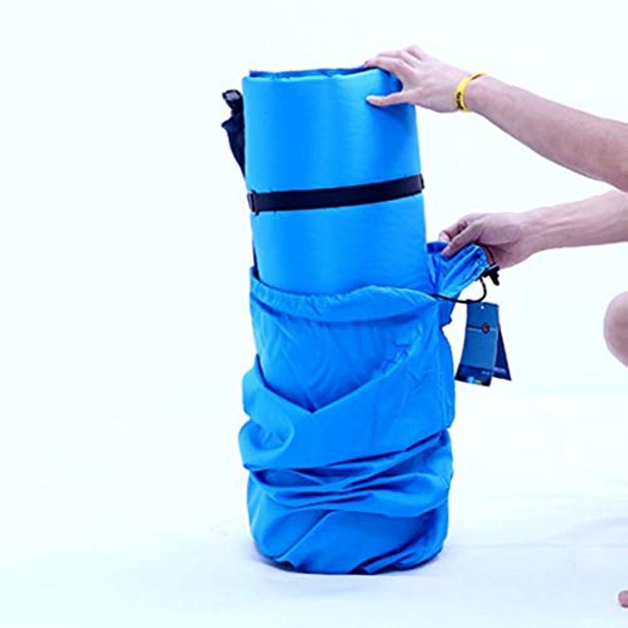 化粧無視するトリプルNekovan 屋外の二重自動膨脹可能なクッションの厚くなる広いキャンプテントの膨脹可能なクッション (色 : ブルー)