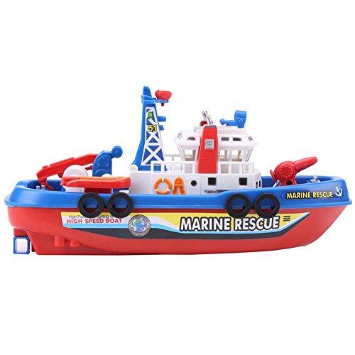 消防ボート レスキューボート お風呂遊び 水鉄砲 船舶模型 電気 噴霧でき 児童 おもちゃ プラモデル 置物 船・水上使用可