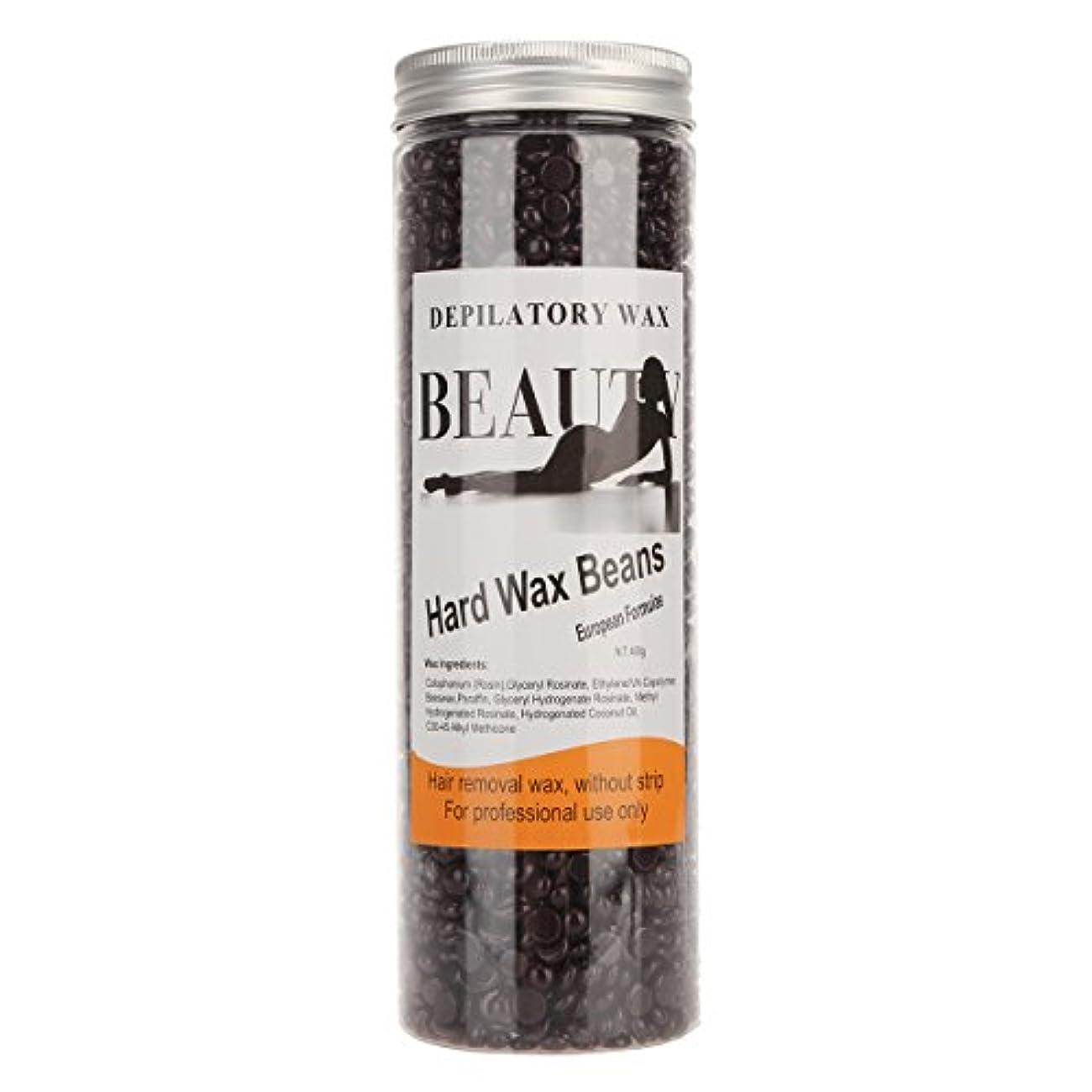 内部軽蔑する磁気(アーニェメイ)Bonjanvy ハードワックスキット 400g 1缶 ブラジリアンワックス デリケートゾーン 脱毛ワックス 鼻毛-チョコレート