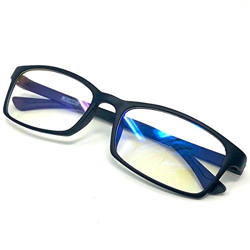 FREESE 超軽量13g ブルーライトカット メガネ パソコン用 PC眼鏡 黒縁 透明レンズ ファッション 伊達メガネ スクエア(Mat Black)