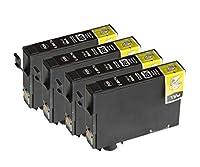 エプソン EPSON ICBK74 単品4個セット ブラック チップ付き 汎用・互換インクカートリッジ