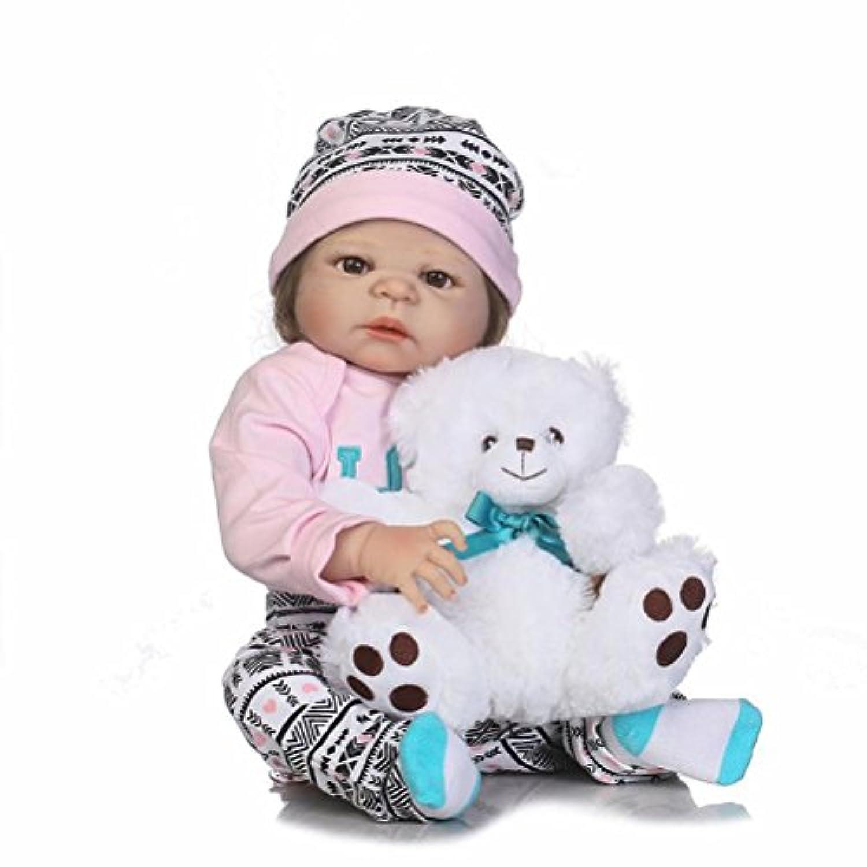 フルボディシリコンToddler Girl Doll解剖学的に正しいReborn Baby Look Real for Nurseryトレーニング、23インチ