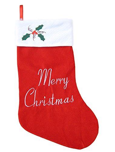 フランネル 素材 で 肌触りの良い 特大 70cm × 40cm クリスマス プレゼント用 靴下 ワンポイント スノーマーク LED バッジ ソフトジッパー遮光防水バッグ セット サンタクロース サンタ さん <1枚>