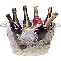 ウェイブ ワインクーラー シャンパンクーラー クリア パーティー 大型 2924 グローバル