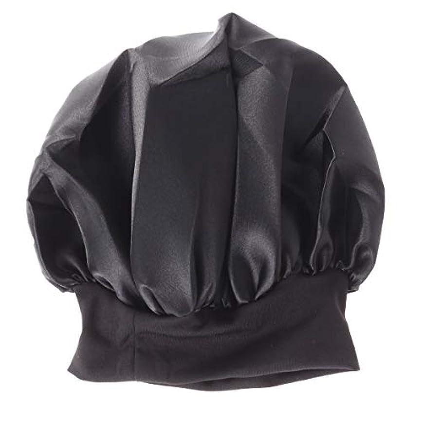 麺プレビスサイトブルームROSENICE 56-58cmワイドサイド高レジリエンスナイトキャップスリーピングキャップサイズM(ブラック)