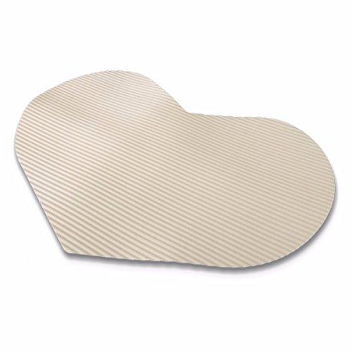 44cm x 65cm ハート型 ペット ホワイト ふく楽 マット 抗菌 かわいい おやすみ用 断熱 撥水 防汚 衛生 オフホワイト