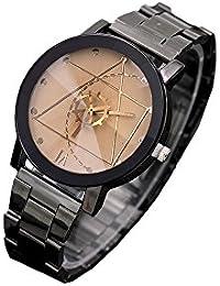 ROOFTOPS ファッションウォッチステンレス鋼の男性の女性のクォーツアナログ腕時計(ホワイト)