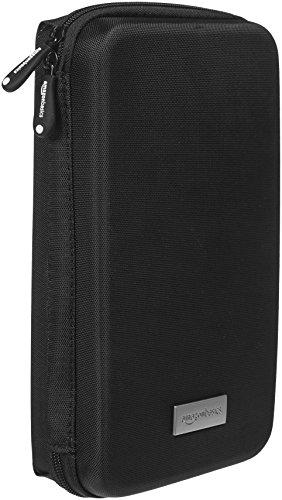 Amazonベーシック ポータブル機器 (カメラ, 携帯電話, GPS など)用キャリングケース ポーチ ブラック