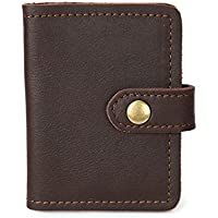 LDUNDUN-BAG, 2019 Men's Retro Clutch Card Credit Card Photo Small Money Clip Leather Wallet Leather Card Case (Color : Brass, Size : S)