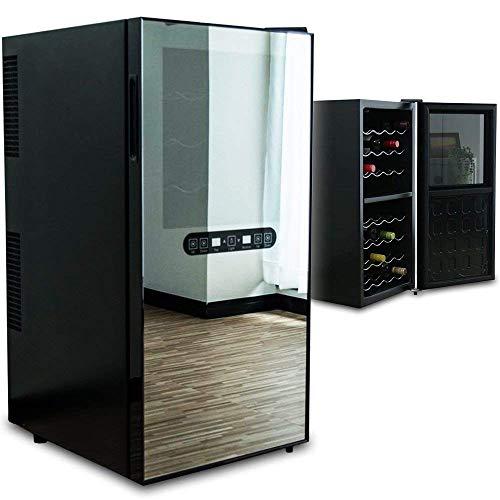ottostyle.jp ワインセラー セパレート2段式 【最大32本収納】 家庭用 ペルチェ方式 タッチパネル 紫外線UVカットガラス 上下2段式で設定温度を管理可能 容量78L