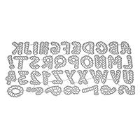 チェリー丁目 スカッティングダイ、不規則なアルファベットの金属ステンシル、DIYスクラップブッキングのアルバムカード、エンボス加工の装飾