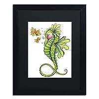 Sea Dragon by Jennifer Nilsson、ブラックマット、ブラックフレーム16x 20インチ