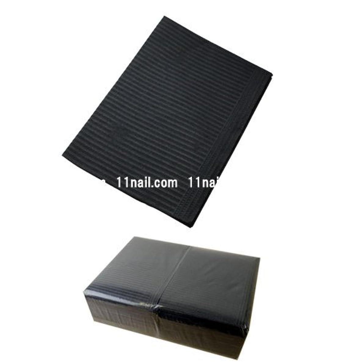 順応性埋める直立ネイル 防水ペーパー/裏面防水ネイルシート 50枚 ブラック