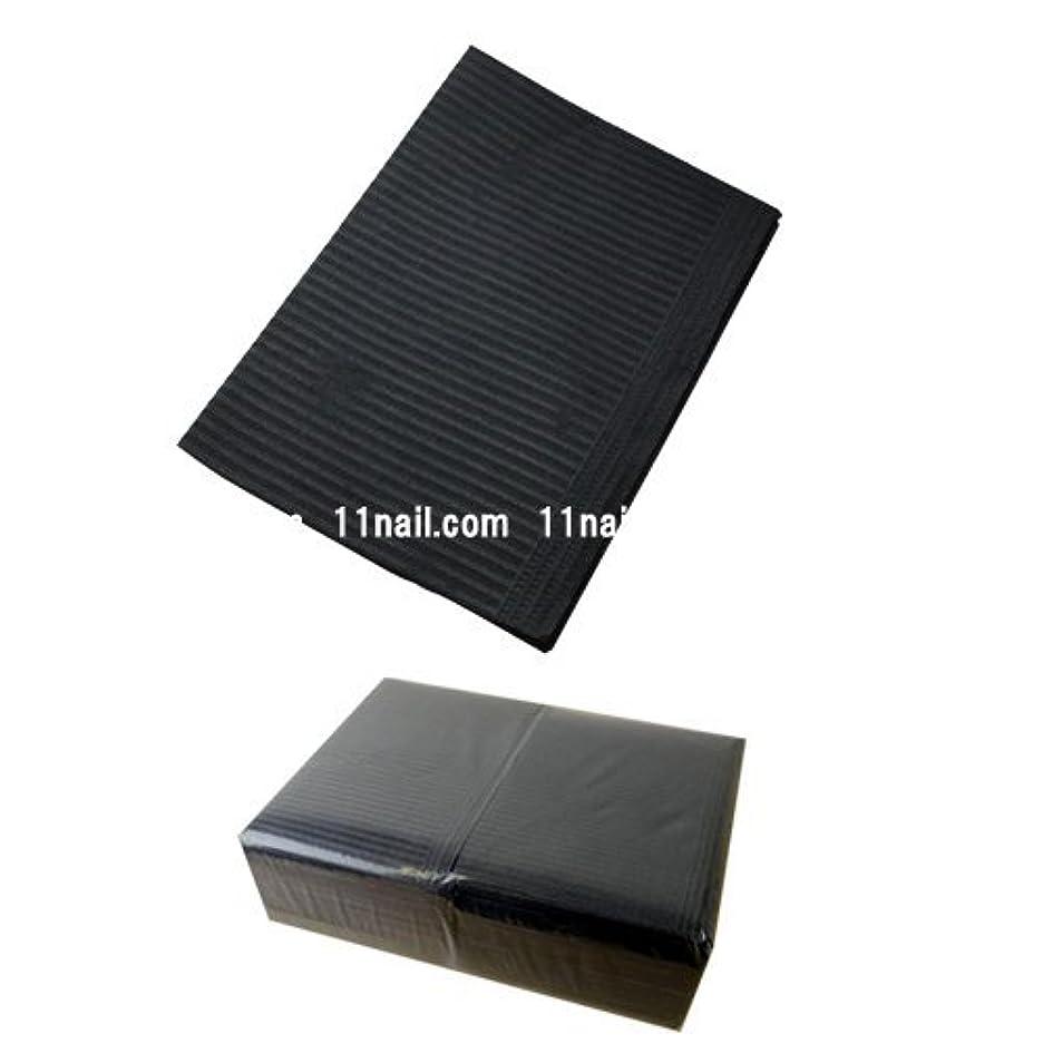 控えめなサポートテープネイル 防水ペーパー/裏面防水ネイルシート 50枚 ブラック