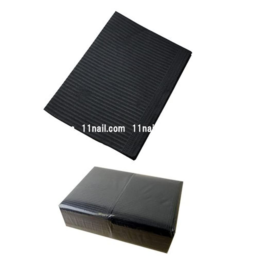 パッケージアクセシブルスクラブネイル 防水ペーパー/裏面防水ネイルシート 50枚 ブラック