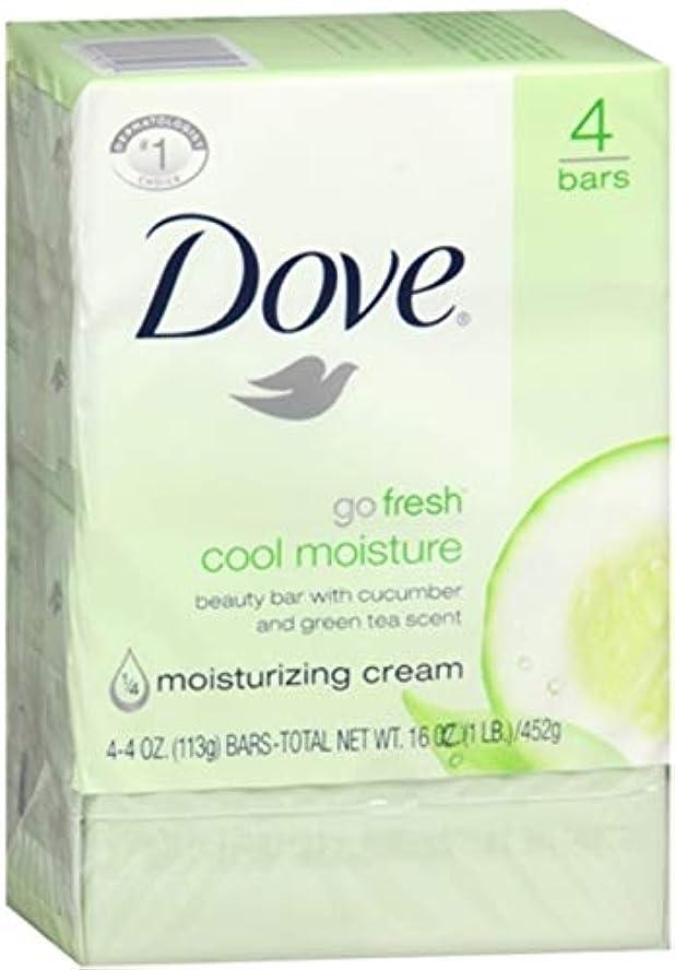 Dove 行く新鮮なクールモイスチャービューティーバー17オズ(12パック)