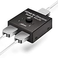 HDMI 切替器 分配器 双方向セレクター 4K/3D/1080p対応 Olycism 手動切り替え器 1入力2出力/2入力1出力 4k X 2k 電源不要 日本語説明書付き